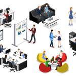 image showing individuals meeting in a work environment